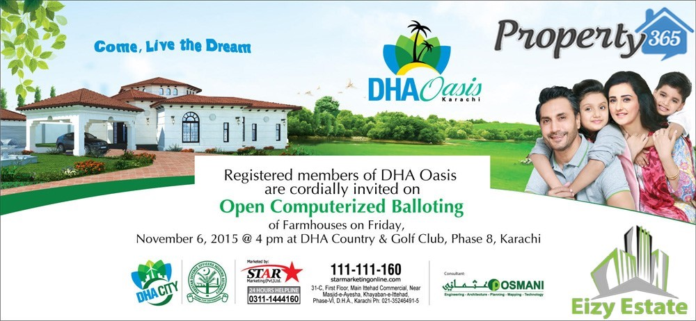Balloting-of-DHA-Oasis-Karachi-on-6th-November-2015
